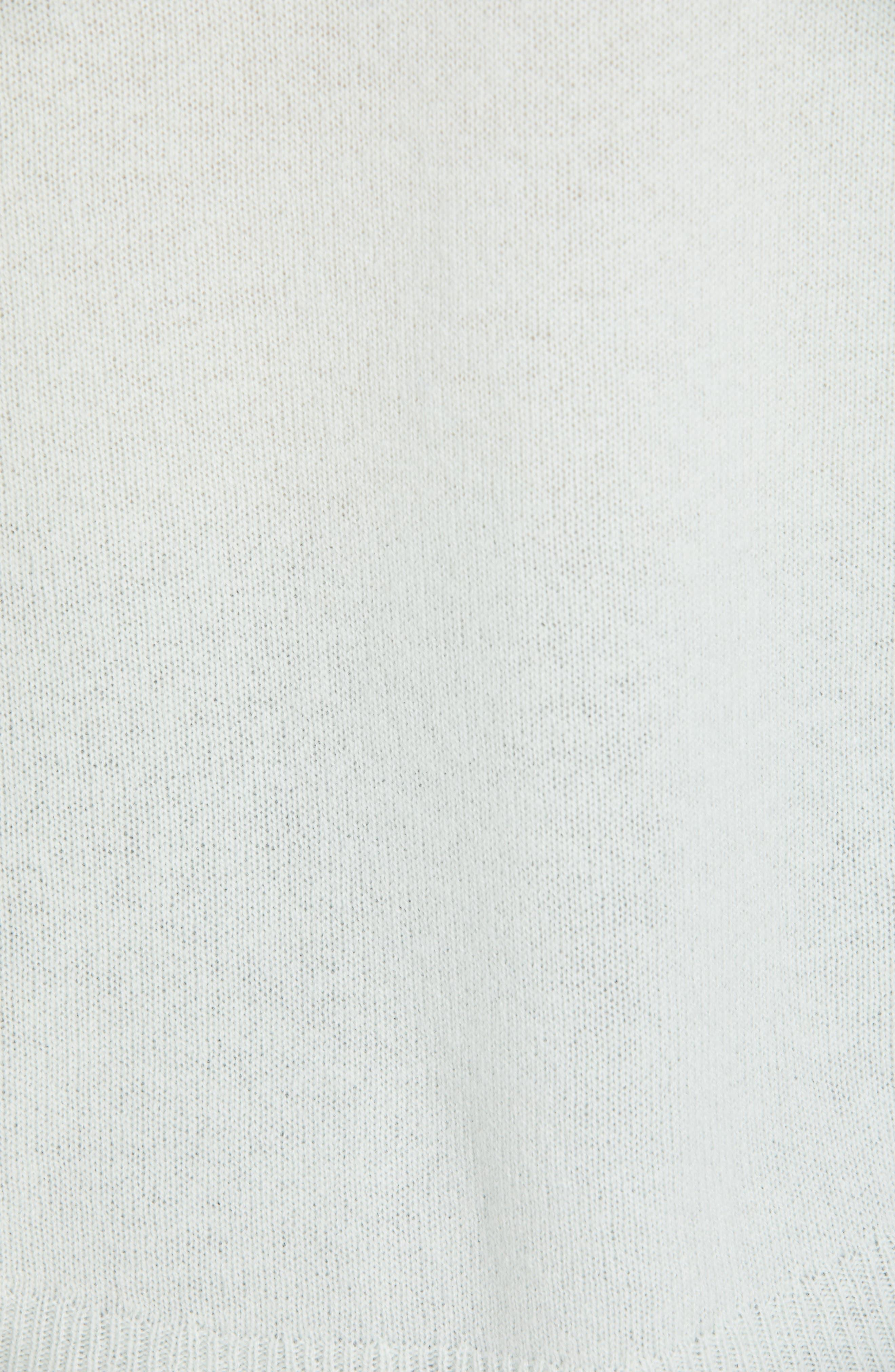 ,                             Karenia Long Sleeve Cashmere Sweater,                             Alternate thumbnail 5, color,                             OPAL GREEN