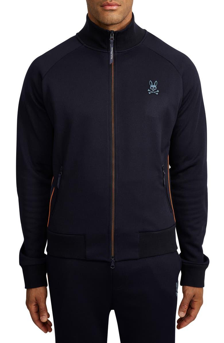 PSYCHO BUNNY Andre Track Jacket, Main, color, NAVY