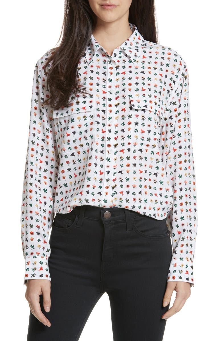 EQUIPMENT Signature Print Silk Shirt, Main, color, 118