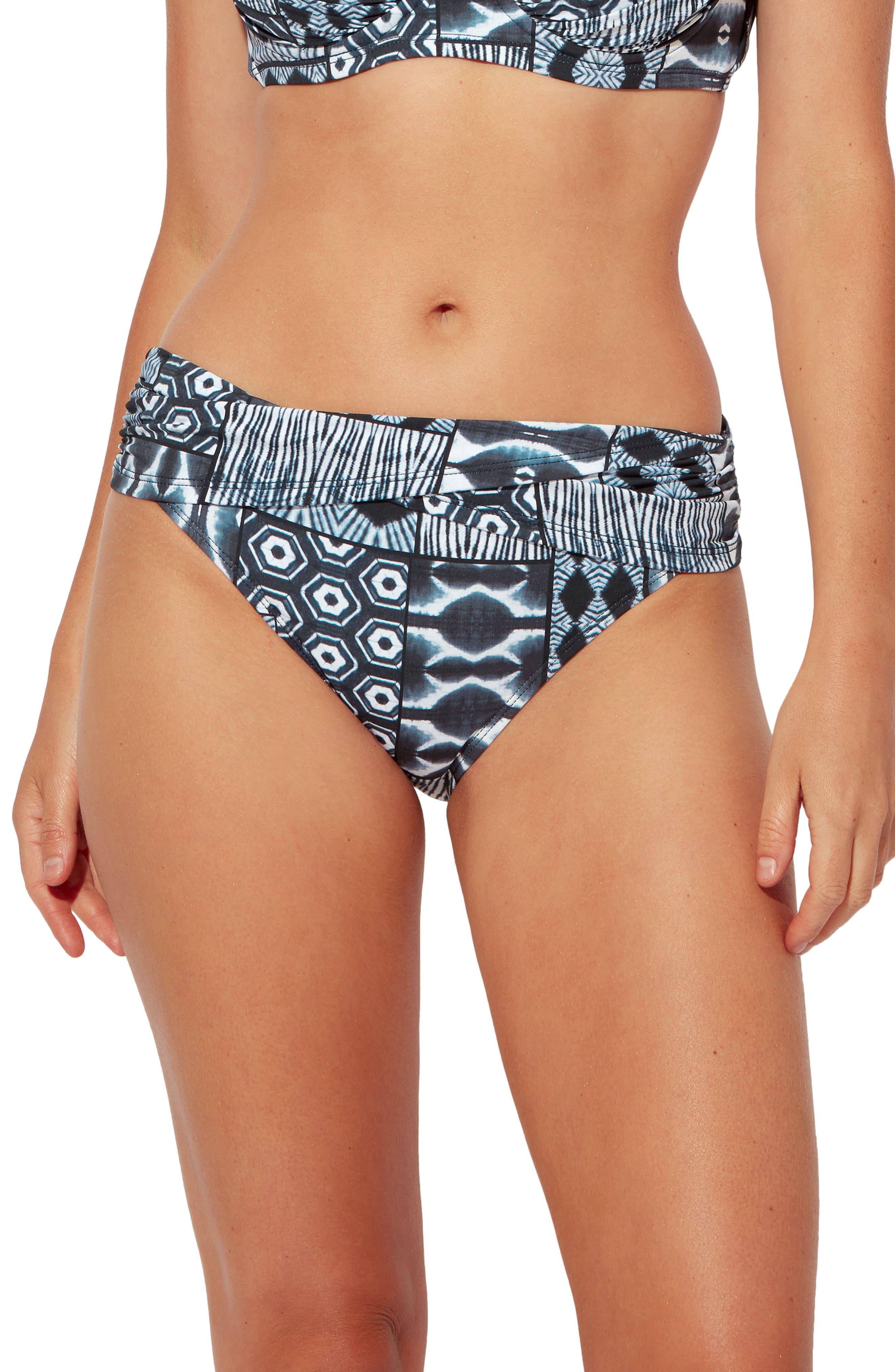 Island Time Sarong Hipster Bikini Bottoms
