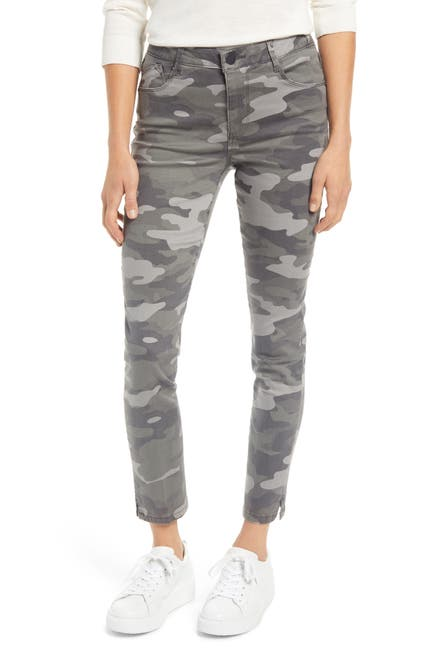 Image of Wit & Wisdom Ab-Solution Camo High Waist Ankle Skinny Pants