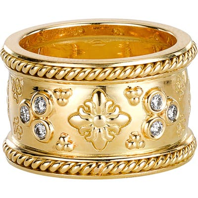 Temple St. Clair 18K Gold & Diamond Band Ring