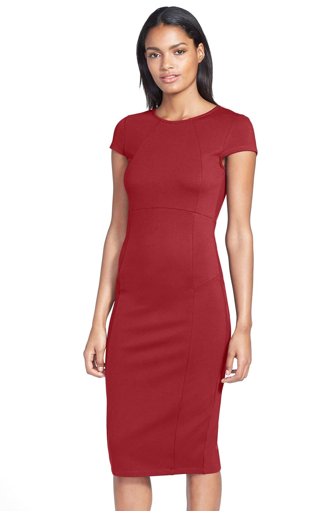 ,                             Ward Seamed Pencil Dress,                             Main thumbnail 56, color,                             605