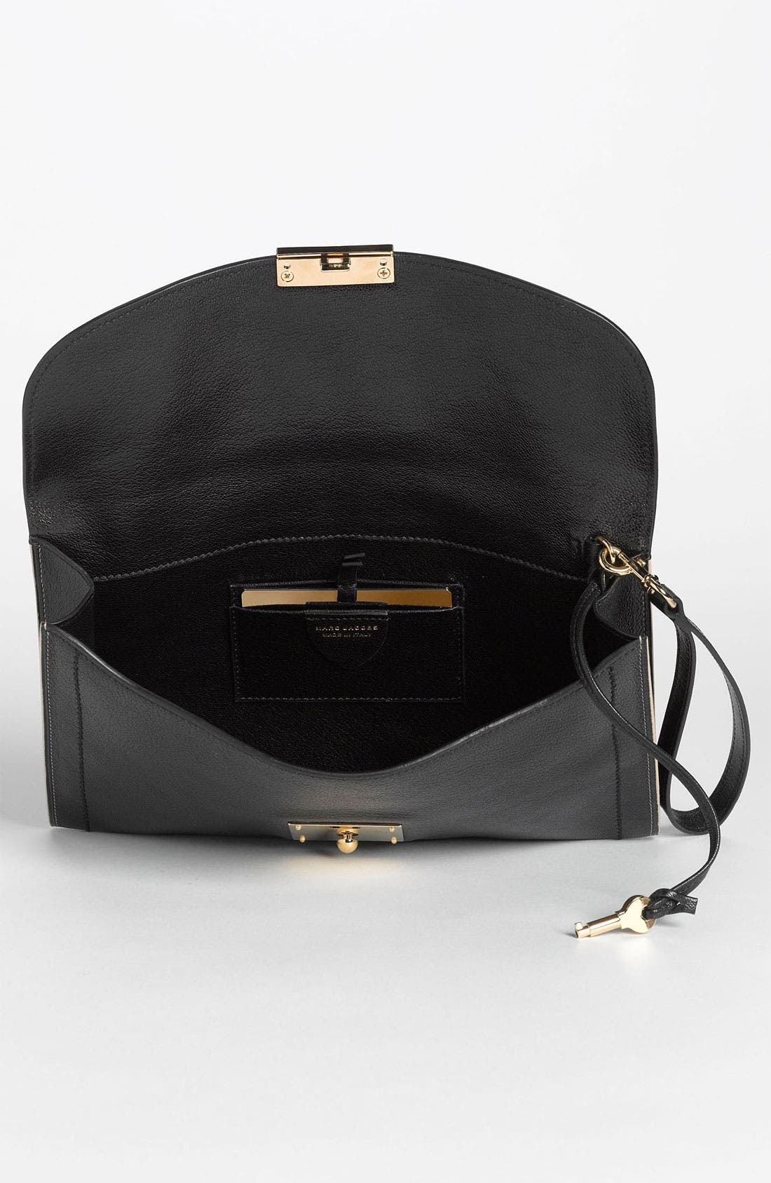 ,                             '1984 Isobel' Leather Clutch,                             Alternate thumbnail 4, color,                             001