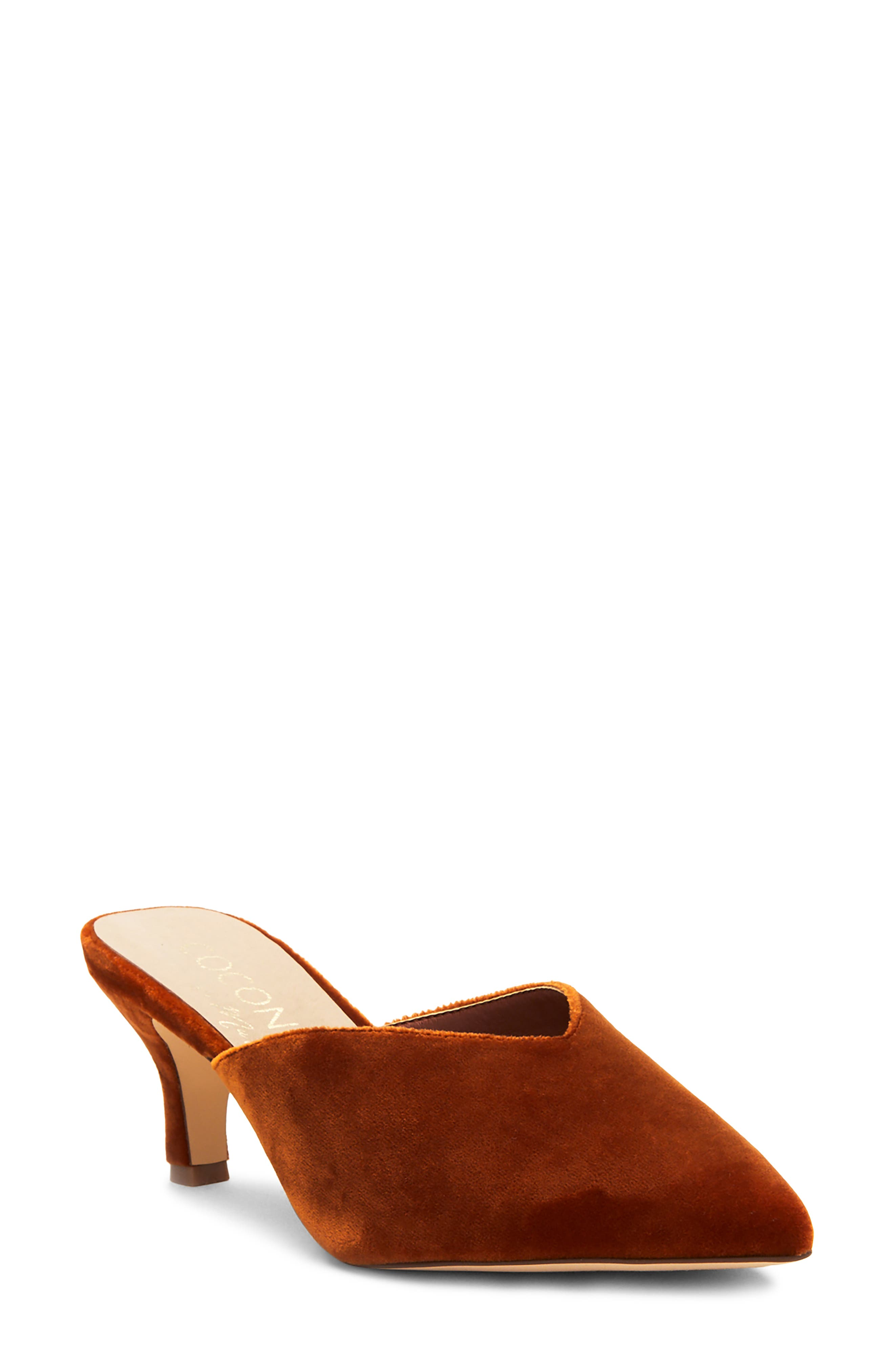 A slender, pointy toe and V-shaped topline style an always-chic mule lofted by a tapered kitten heel. Style Name: Coconuts By Matisse Ojai Pointed Toe Mule (Women). Style Number: 6098806. Available in stores.