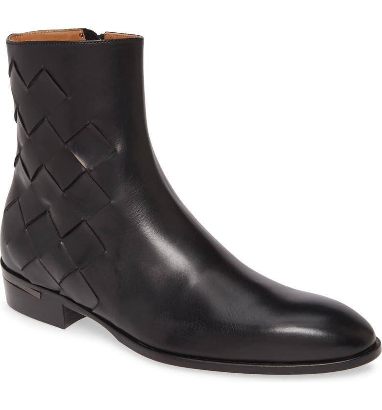 BRUNO MAGLI Zip Boot, Main, color, BLACK LEATHER