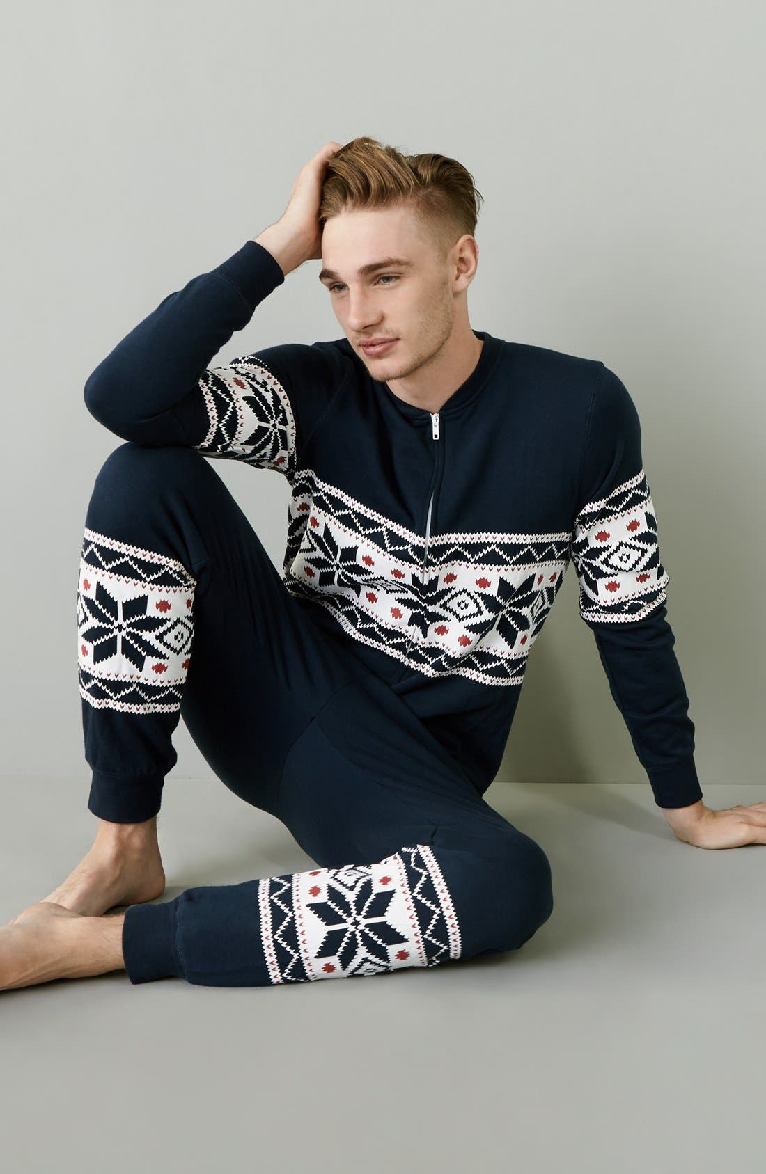 ,                             Fleece One-Piece Pajamas,                             Alternate thumbnail 33, color,                             420