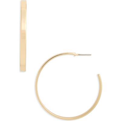 Halogen Sleek Flat Hoop Earrings