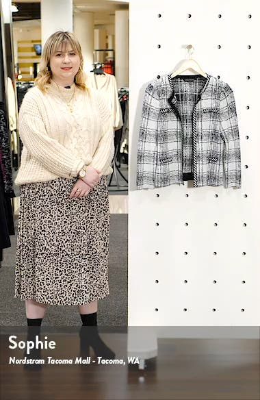 Plaid Knit Jacket, sales video thumbnail