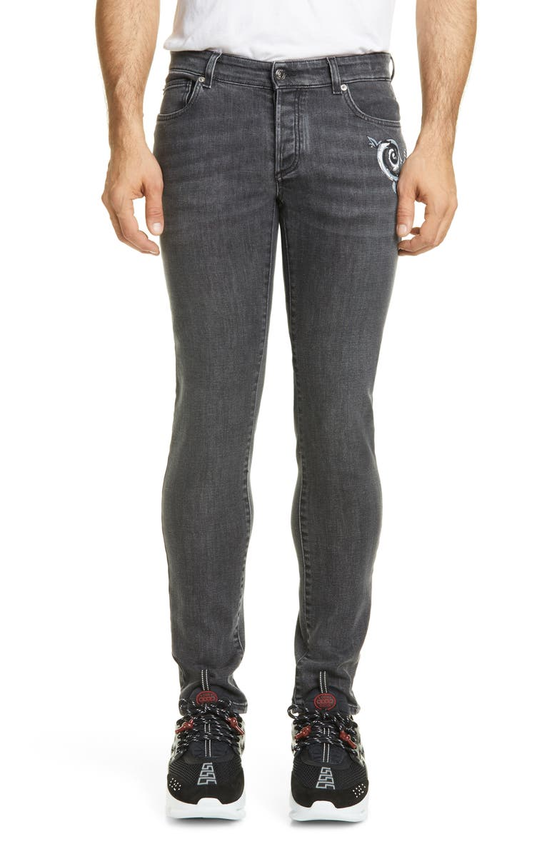 VERSACE COLLECTION Jeans, Main, color, 001