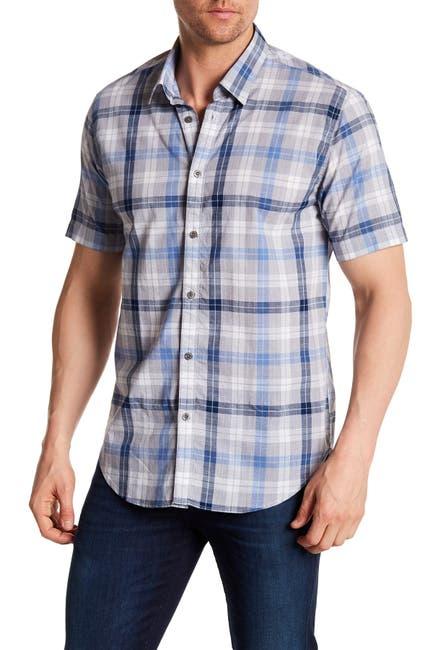 Image of COASTAORO Caffoe Plaid Short Sleeve Regular Fit Shirt