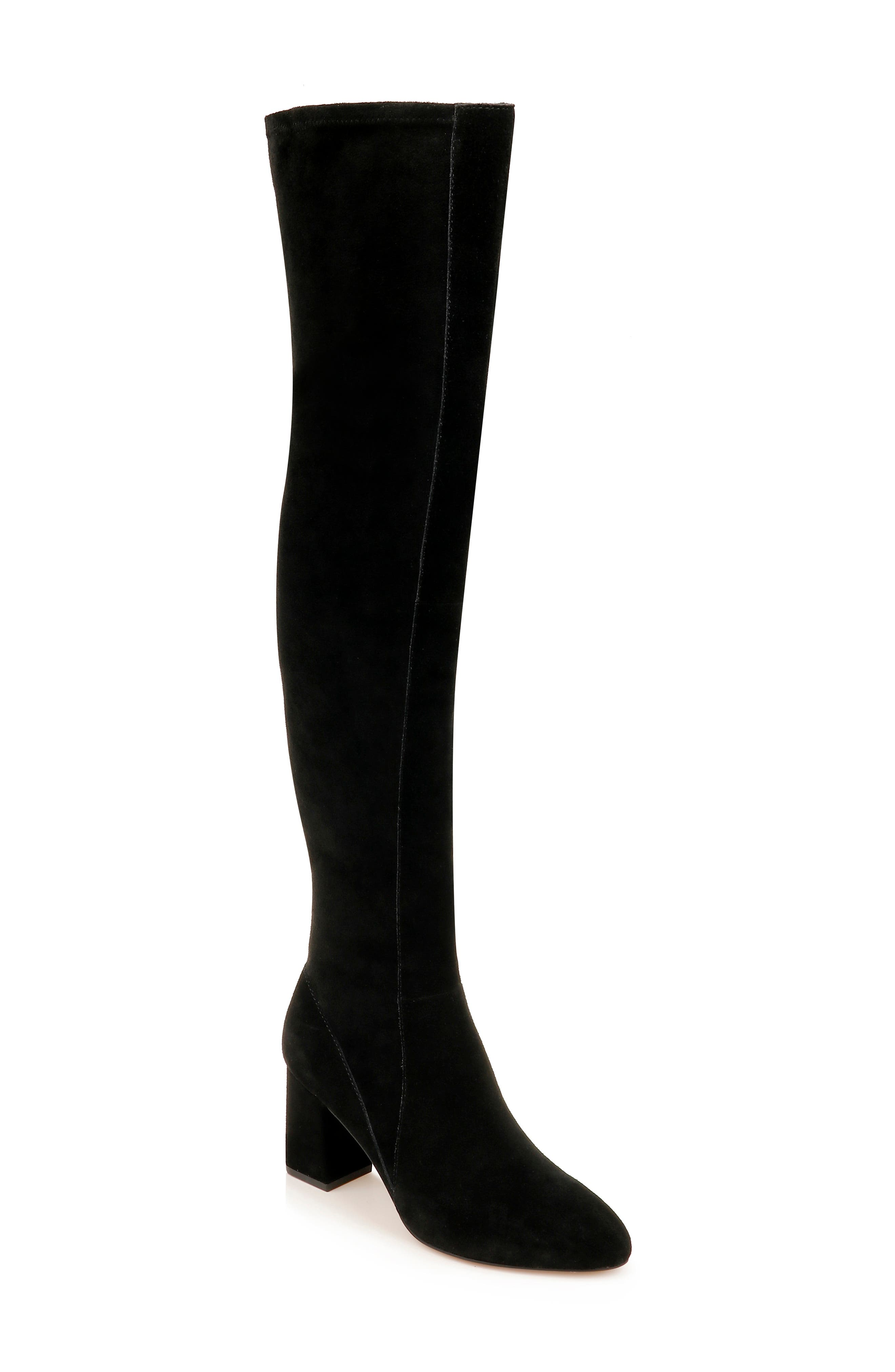 Make a bold, modern style statement in this over-the-knee boot finished with a pointy toe and block heel. Style Name: Splendid Kensley Over The Knee Boot (Women). Style Number: 6145133. Available in stores.