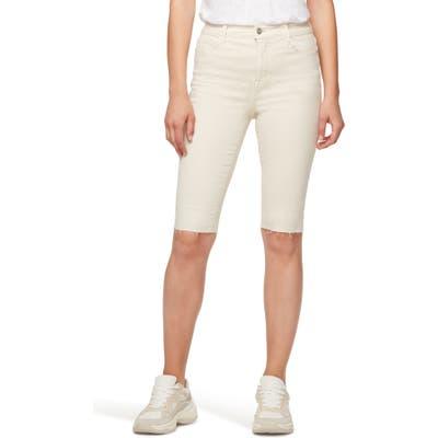 Sanctuary Skimmer High Waist Bermuda Shorts, Ivory