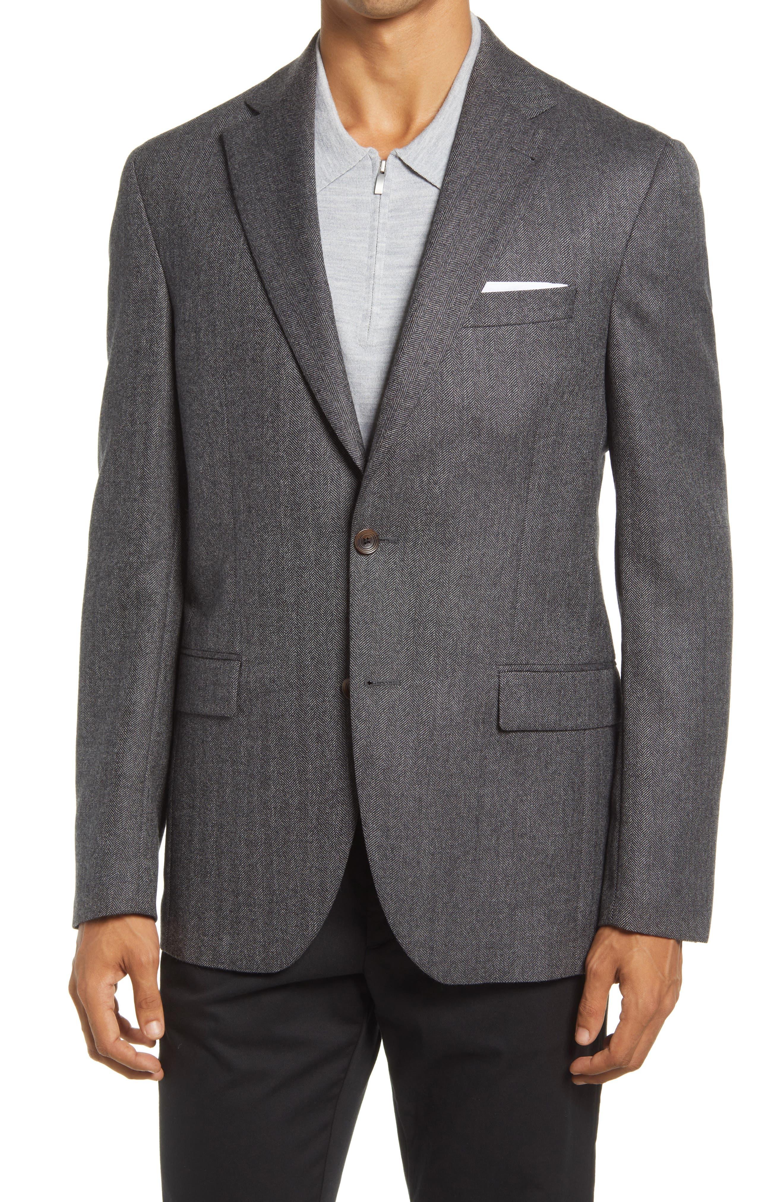 Midland Herringbone Wool Sport Coat