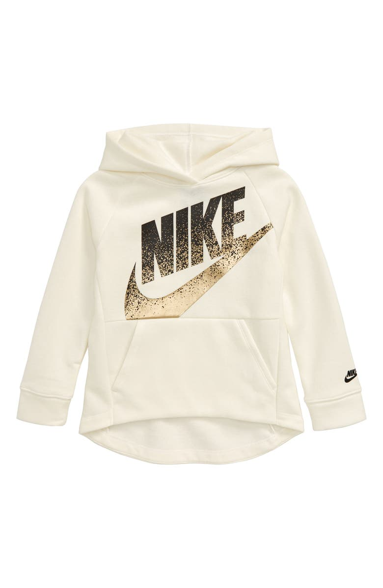 NIKE Sportswear Shine Spray Logo Fleece Hoodie, Main, color, 101