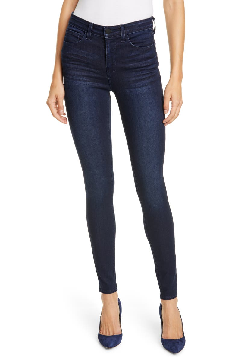 L'AGENCE Marguerite Skinny Jeans, Main, color, MARINO BLUE