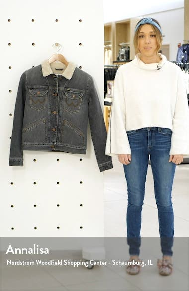 ICONS<sup>™</sup> 124WJ Faux Shearling Lined Denim Jacket, sales video thumbnail