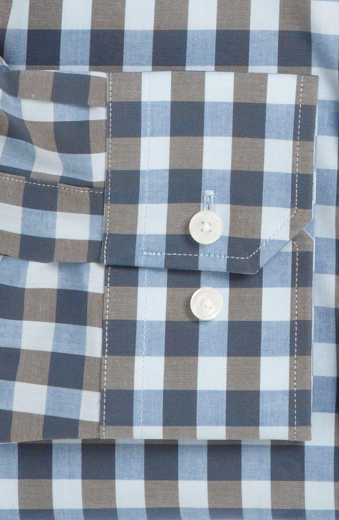 ,                             Slim Fit Non Iron Gingham Dress Shirt,                             Alternate thumbnail 17, color,                             460