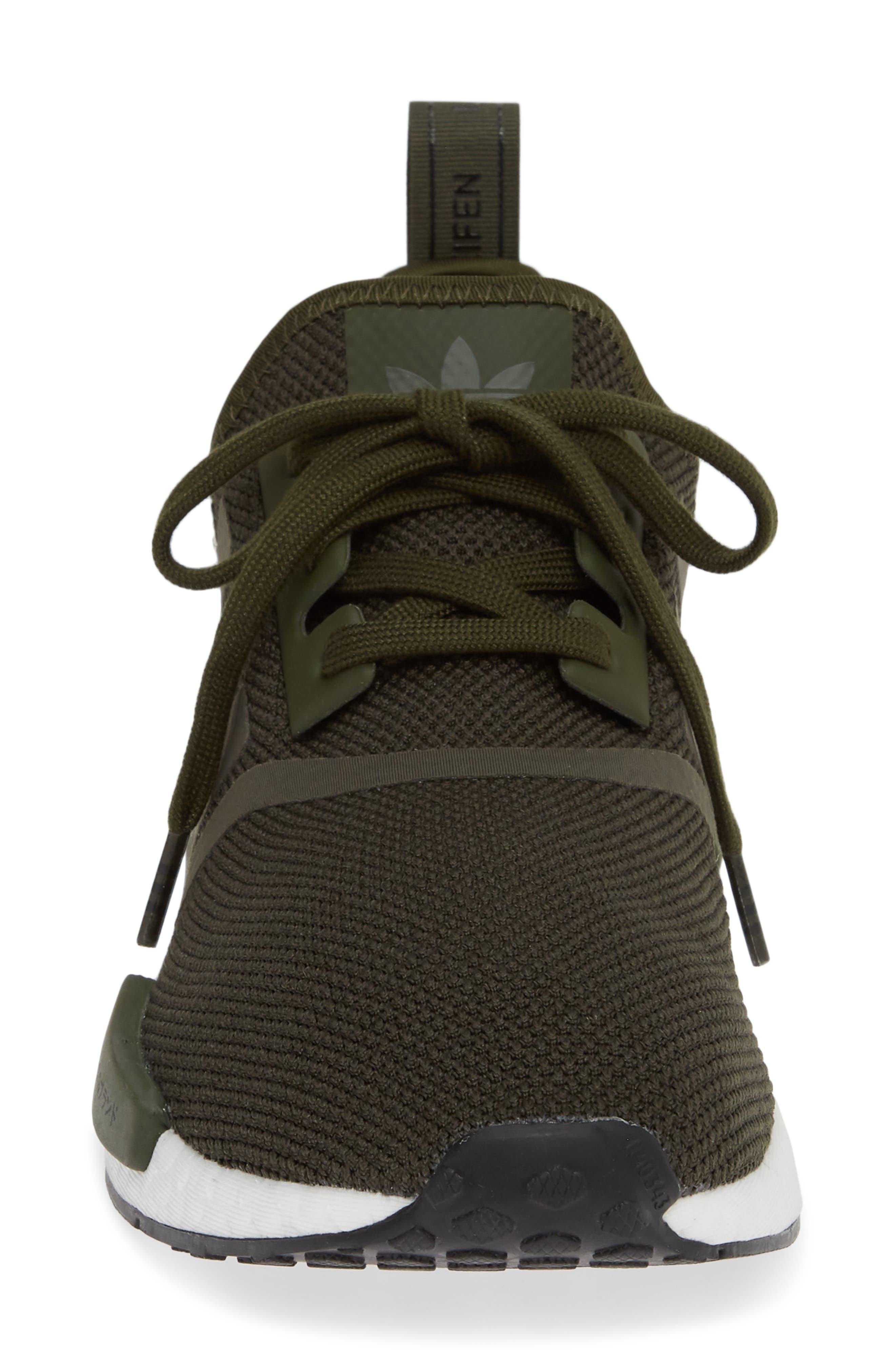 ,                             Originals NMD R1 Sneaker,                             Alternate thumbnail 4, color,                             NIGHT CARGO/ BLACK