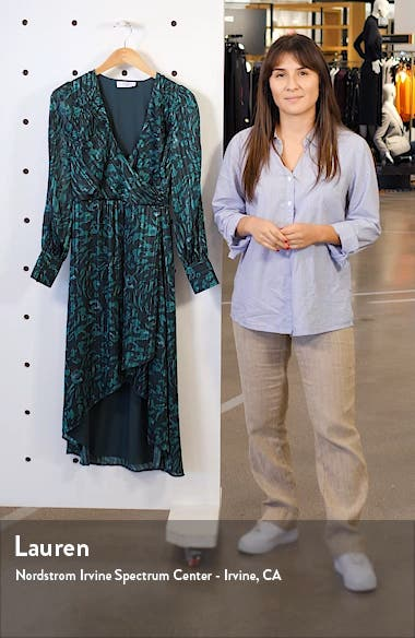 No Regrets Long Sleeve Jacquard Dress, sales video thumbnail