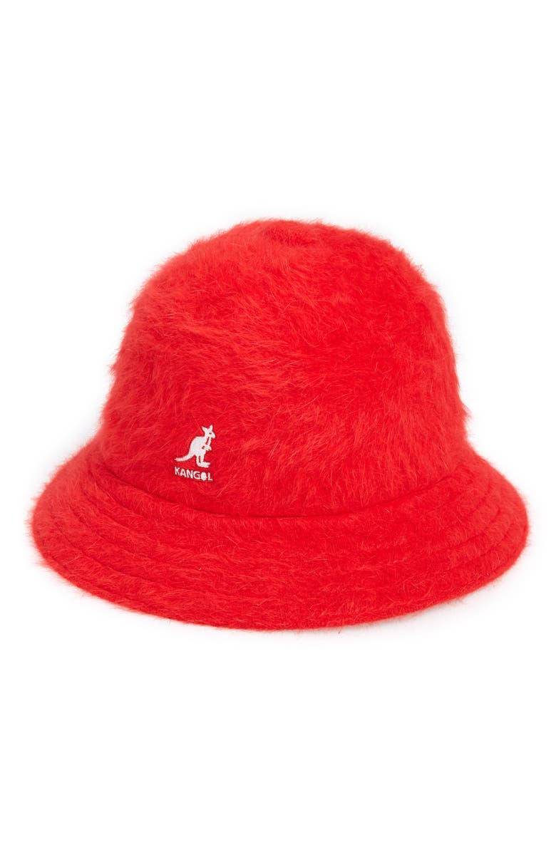 KANGOL Furgora Casual Bucket Hat, Main, color, SCARLET