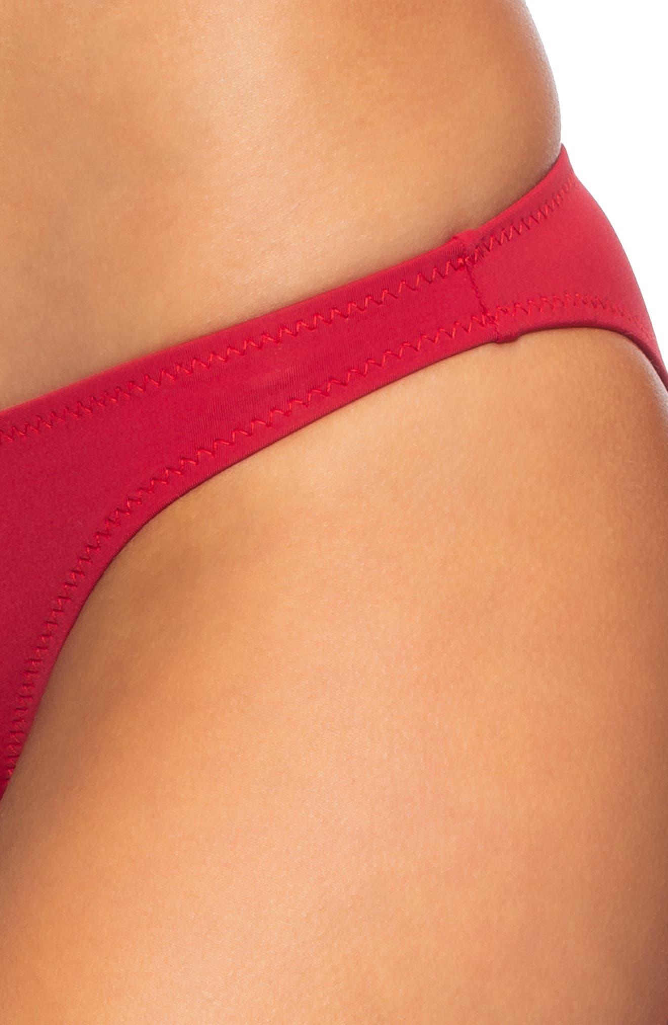 ,                             Veda Bikini Bottoms,                             Alternate thumbnail 4, color,                             SCOOTER RED