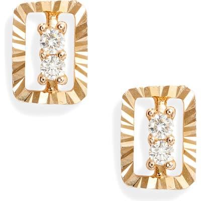 Dana Rebecca Designs Mikaela Stelle Diamond Rectangle Stud Earrings