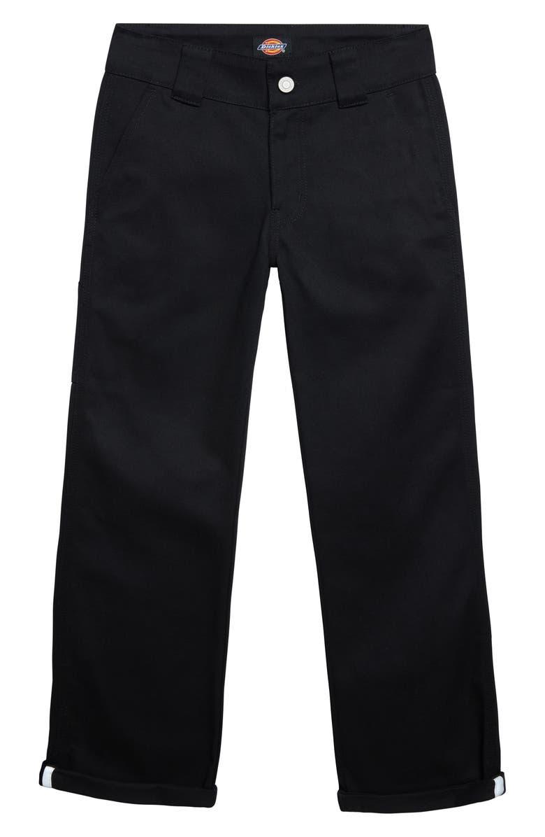 DICKIES Heritage Cotton Blend Utility Pants, Main, color, BLACK