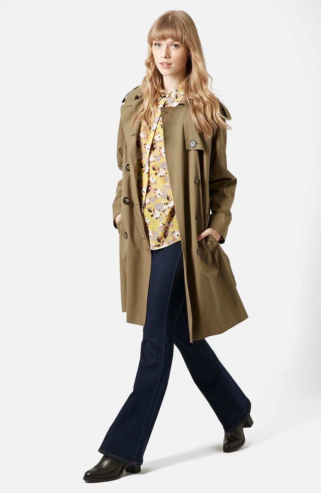 ,                             'Scout' Double Breasted Trench Coat,                             Alternate thumbnail 3, color,                             200