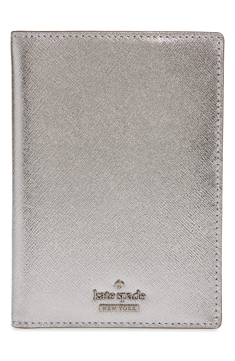 KATE SPADE NEW YORK 'cameron street' leather passport holder, Main, color, 040