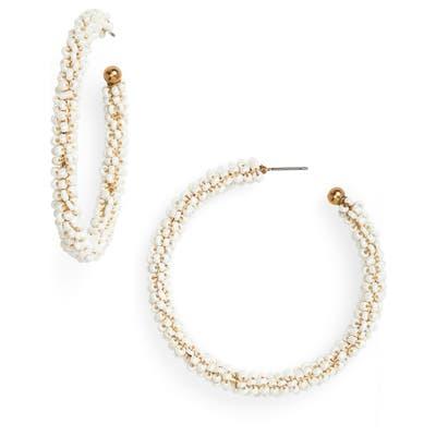 Bp. Seed Bead Hoop Earrings