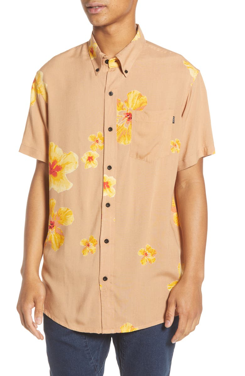 Lira Clothing Pacific Floral Short Sleeve Button Down Shirt