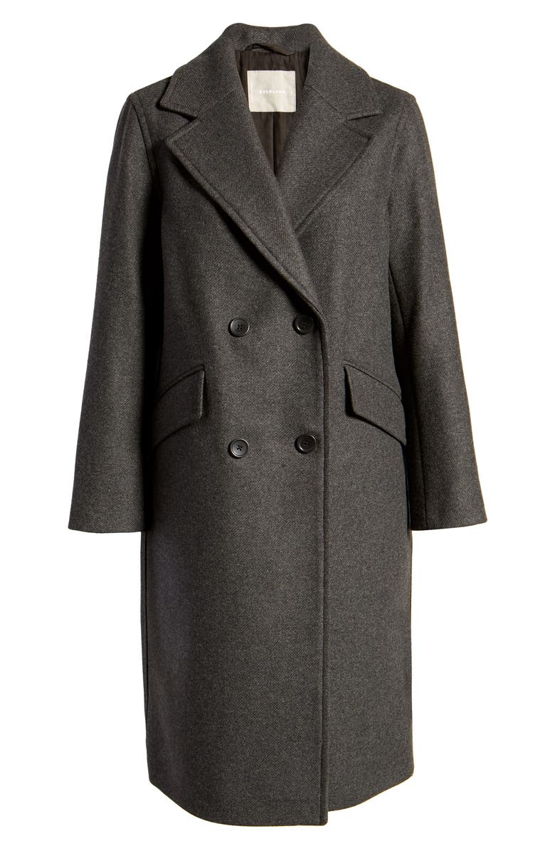 EVERLANE The Double Breasted Coat, Main, color, DARK CHARCOAL