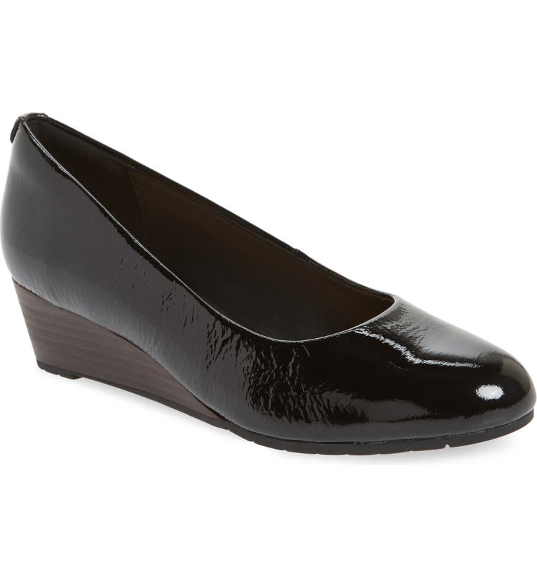 CLARKS<SUP>®</SUP> Vendra Bloom Wedge Pump, Main, color, 013