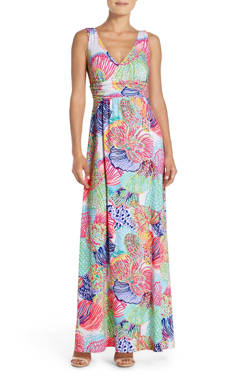 LILLY PULITZER<SUP>®</SUP> 'Sloane' Print Jersey Maxi Dress, Main, color, MULTI ROAR OF THE SEAS