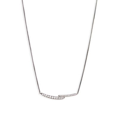 Nadri Curved Pave Bar Necklace