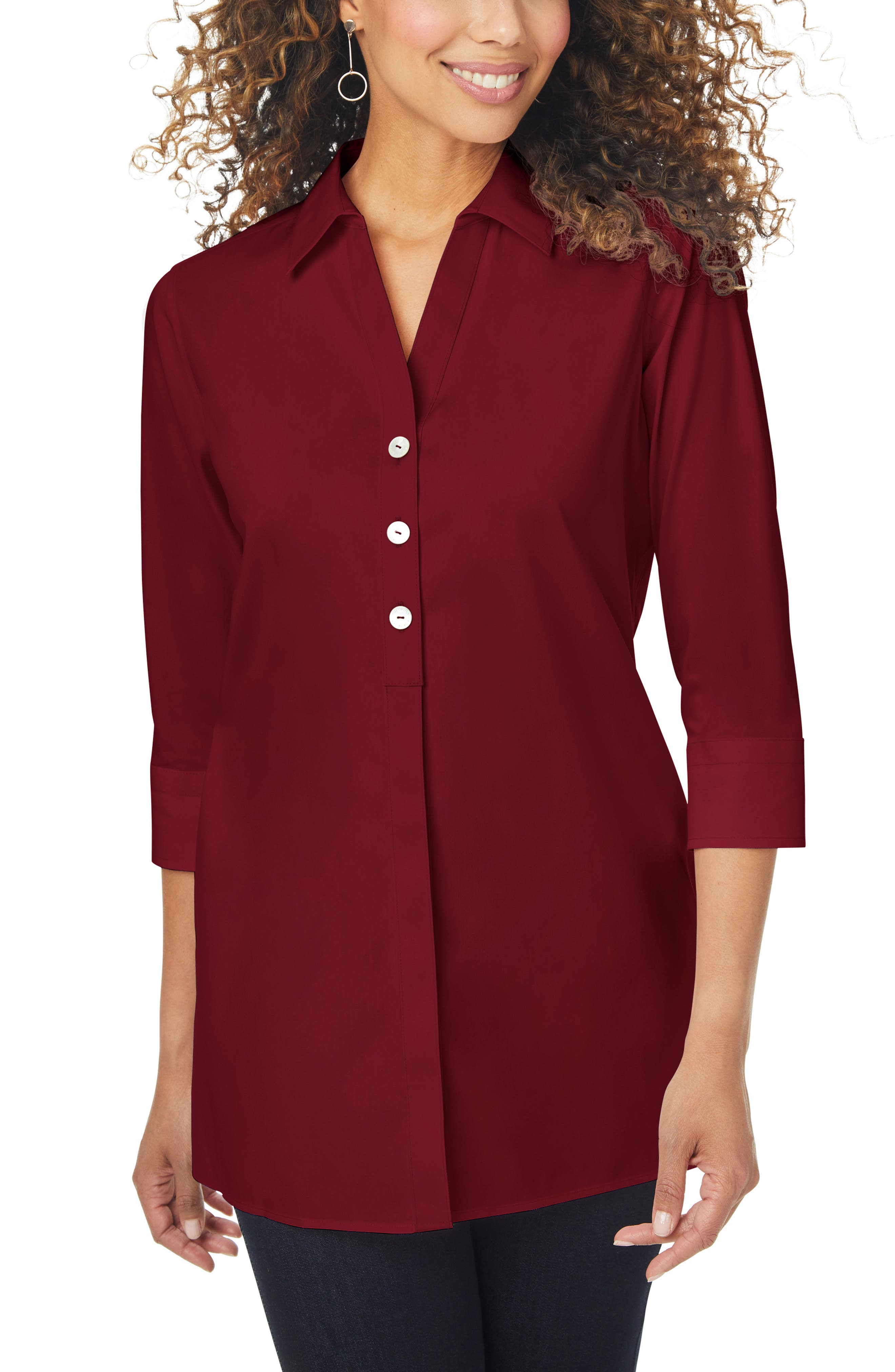 Pamela Stretch Button-Up Tunic
