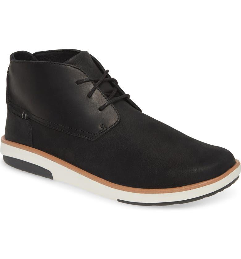 OLUKAI Kalia Puki Chukka Boot, Main, color, BLACK/ BLACK