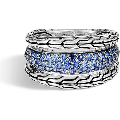 John Hardy Classic Chain Blue Sapphire Ring