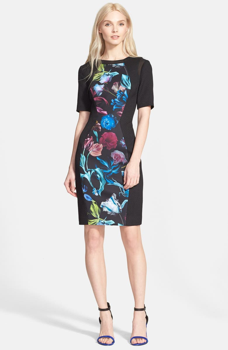TED BAKER LONDON Ted Baker 'Abade' Body-Con Dress, Main, color, 001