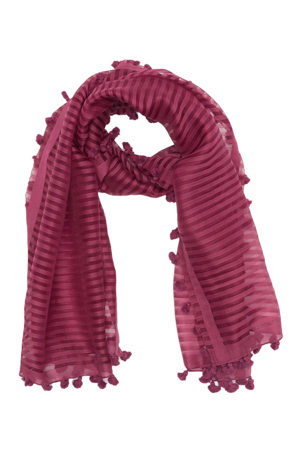 Image of Eileen Fisher Handloomed Organic Cotton Silk Stripe Scarf