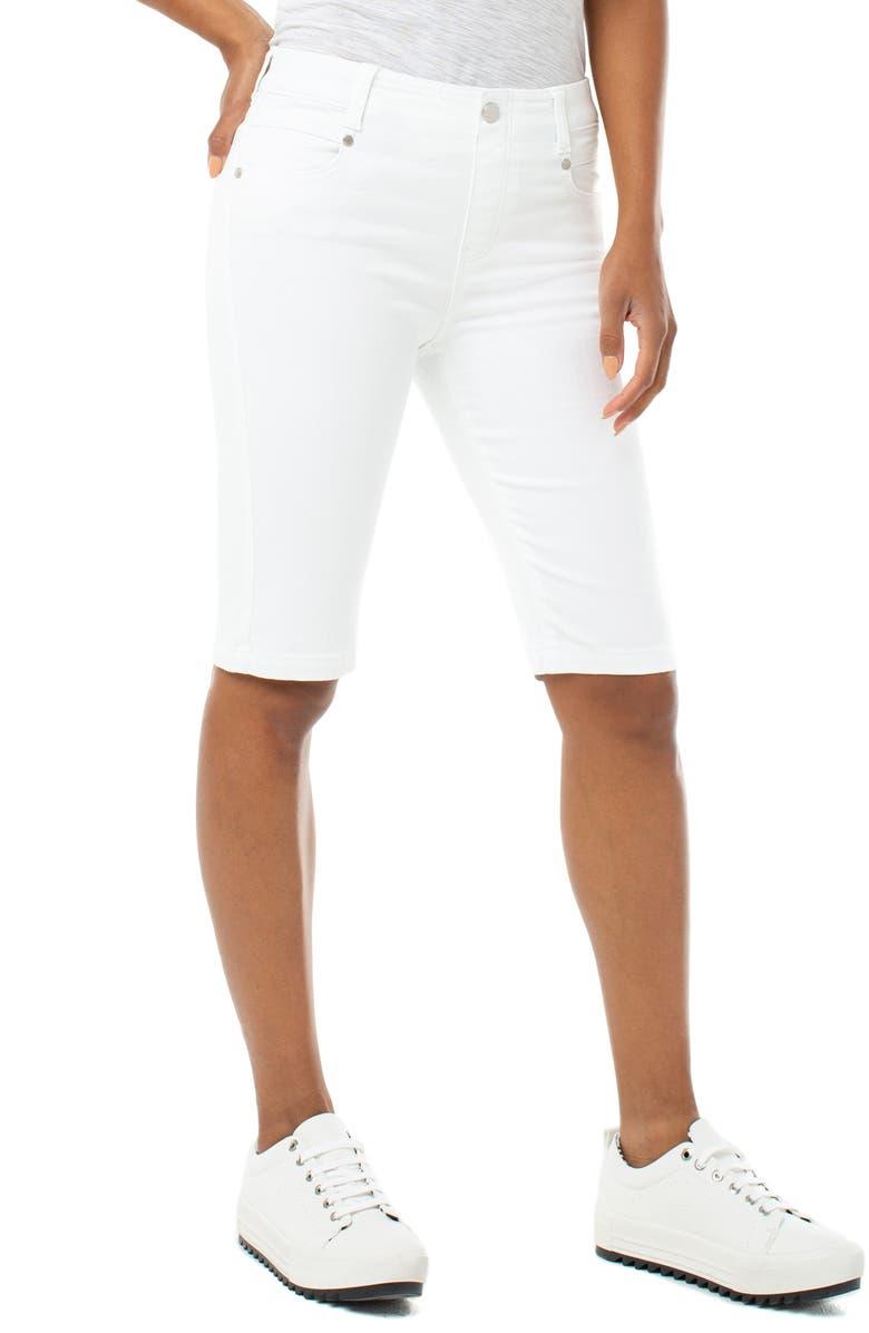LIVERPOOL Gia Glider Cruiser Denim Shorts, Main, color, 105