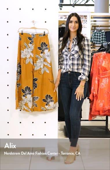 Sonya Floral Print Wide Leg Crop Pants, sales video thumbnail