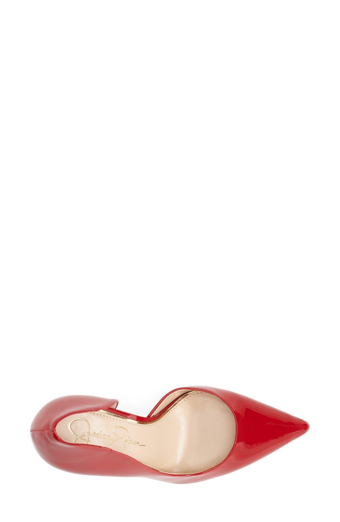,                             'Claudette' Half d'Orsay Pump,                             Alternate thumbnail 212, color,                             600