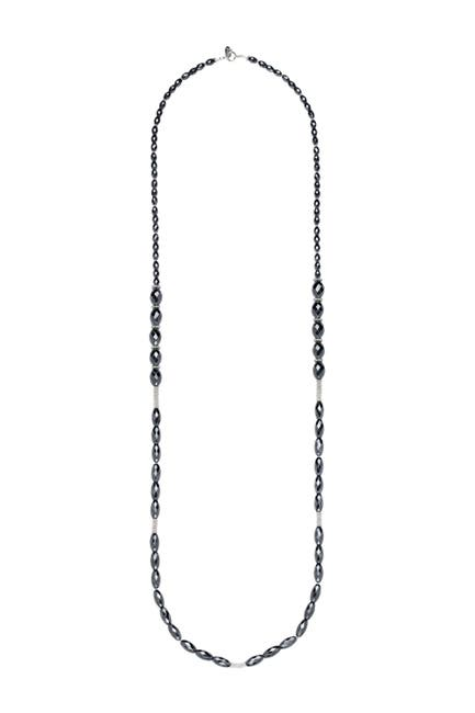 Image of Anna Beck Sterling Silver Hematite Beaded Long Necklace