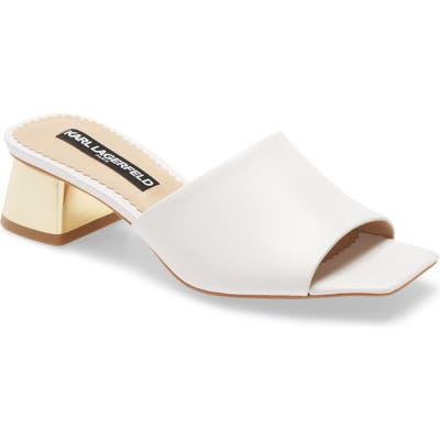 Karl Lagerfeld Paris Macaria Slide Sandal- White