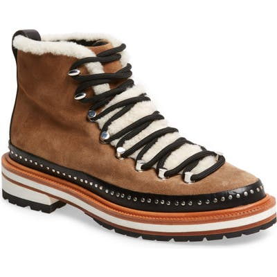 Rag & Bone Compass Genuine Shearling Combat Boot, Brown