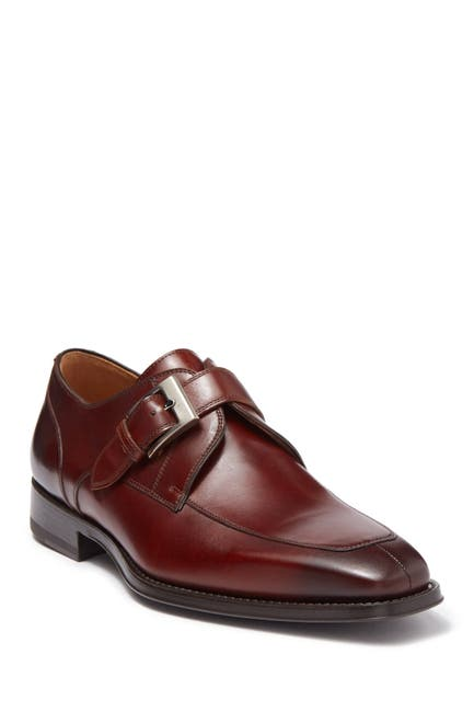 Image of Magnanni Mauricio Leather Monk Strap Loafer