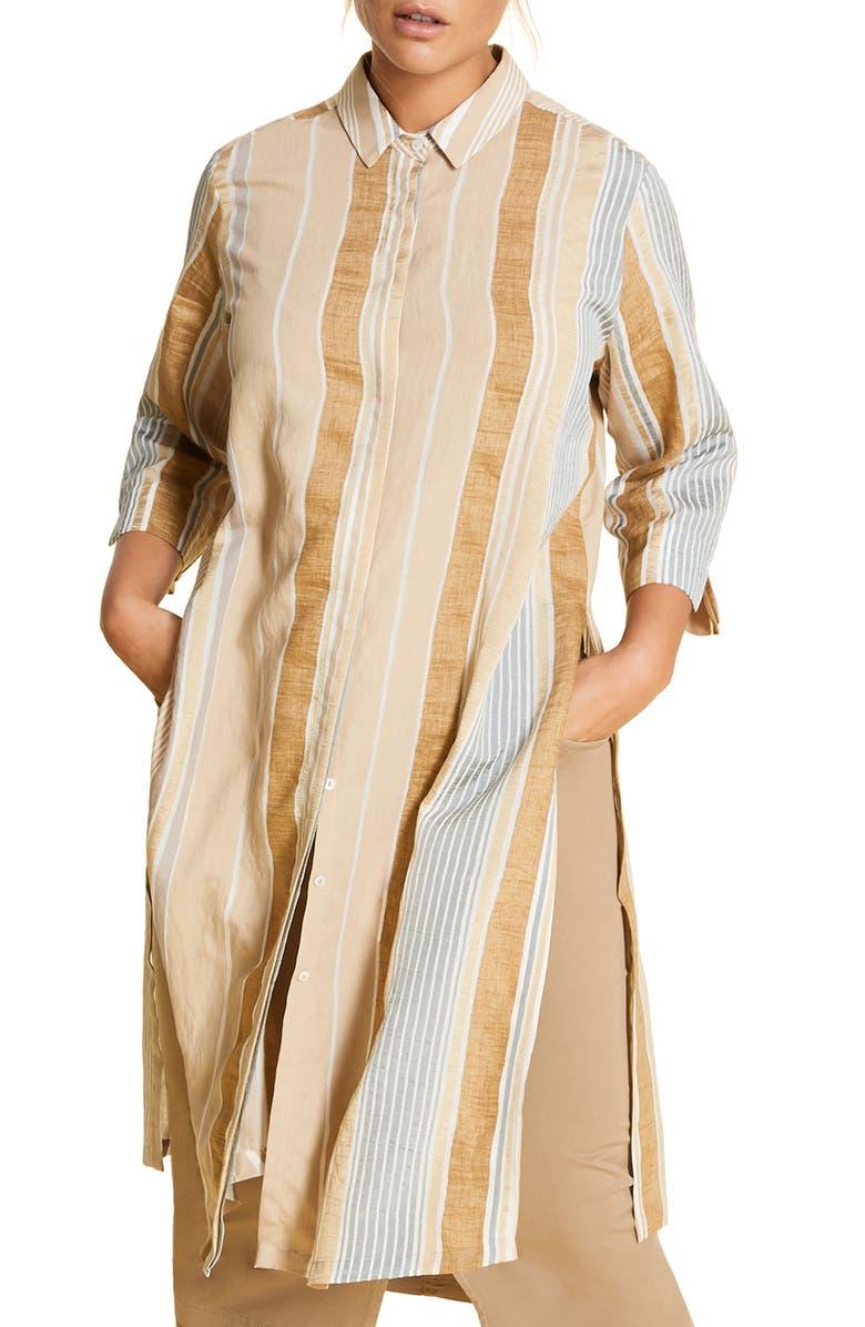 MARINA RINALDI Doppiare Tunic Shirt, Main, color, WHITE