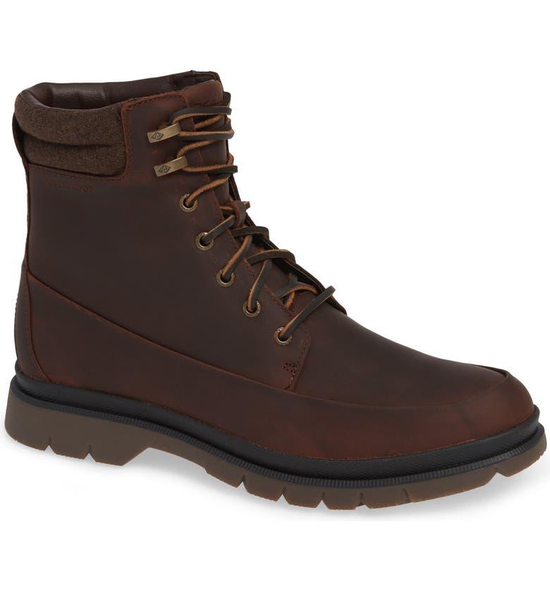SPERRY Watertown Waterproof Moc Toe Boot, Main, color, BROWN